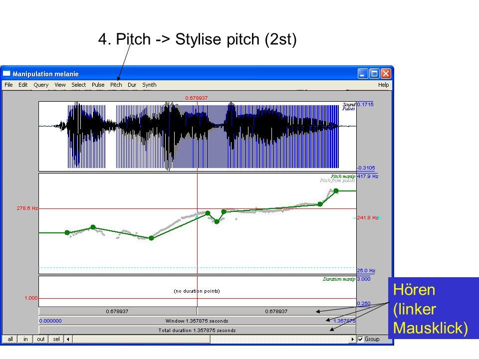 4. Pitch -> Stylise pitch (2st)