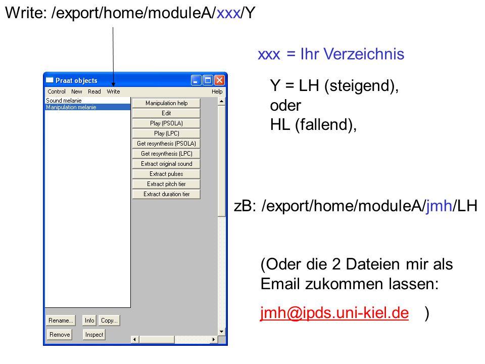 Write: /export/home/moduleA/xxx/Y
