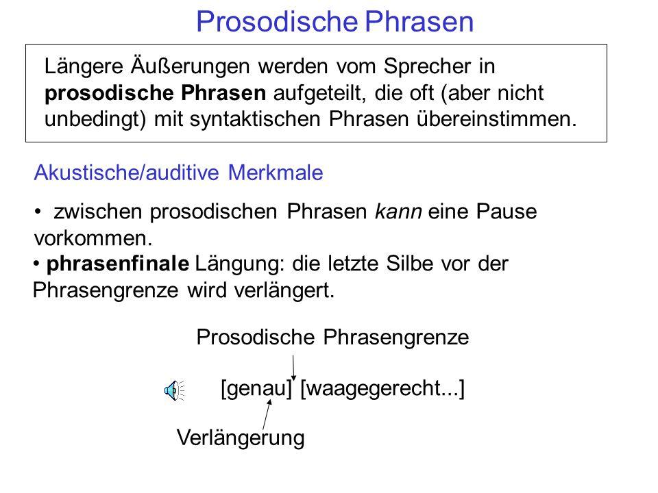 Prosodische Phrasen