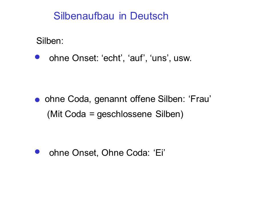 Silbenaufbau in Deutsch