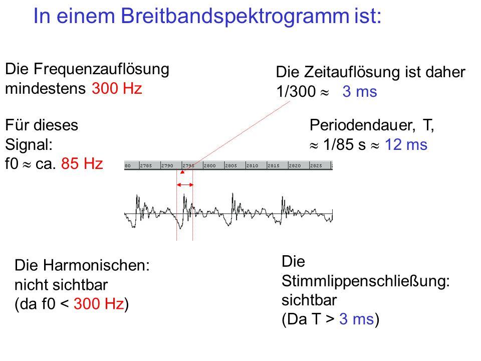 In einem Breitbandspektrogramm ist: