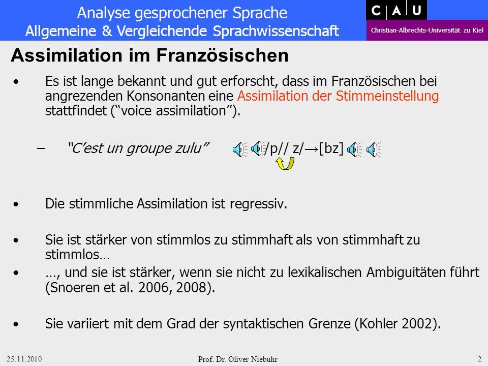 Assimilation im Französischen