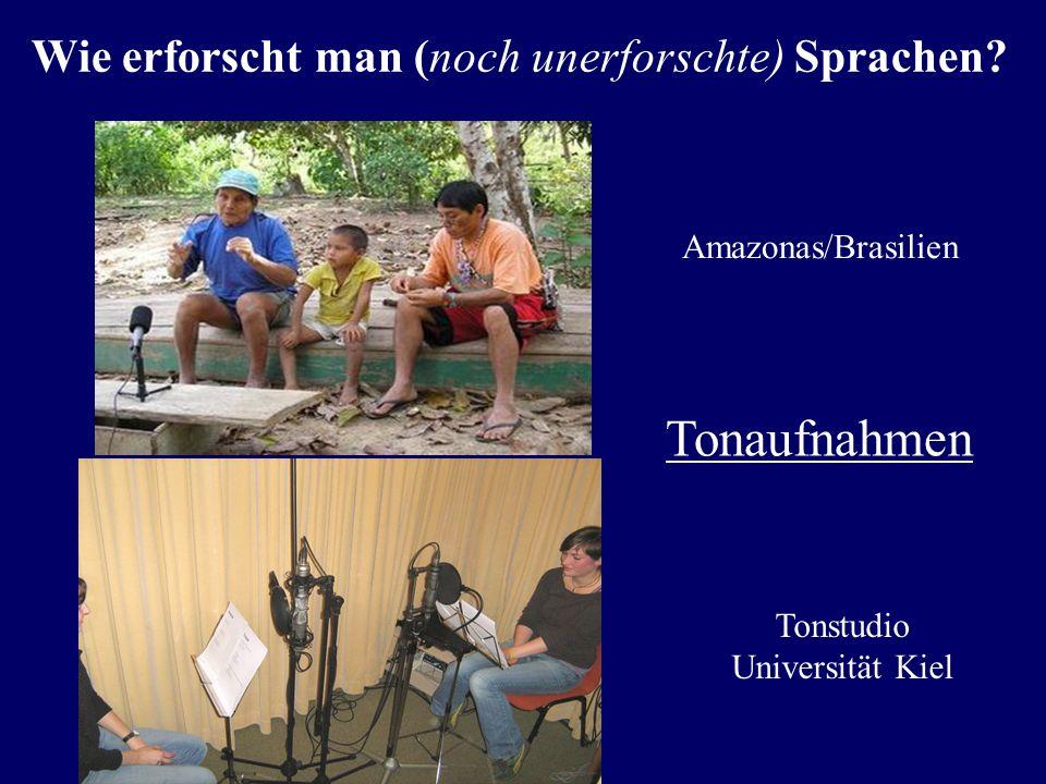 Tonaufnahmen Wie erforscht man (noch unerforschte) Sprachen