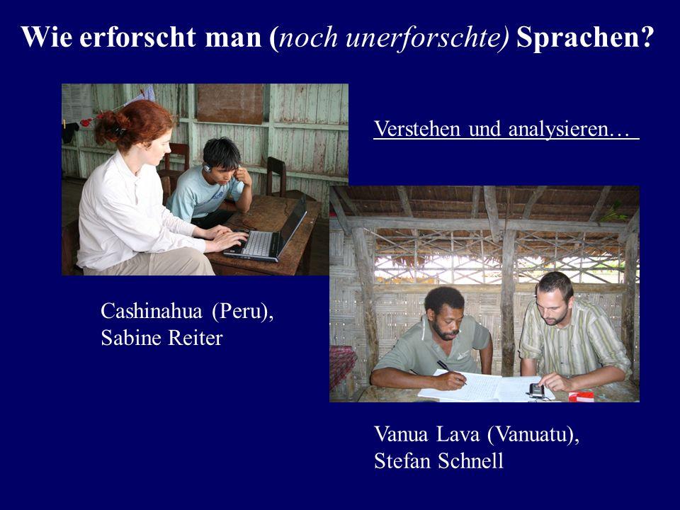 Wie erforscht man (noch unerforschte) Sprachen