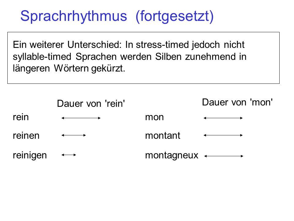 Sprachrhythmus (fortgesetzt)