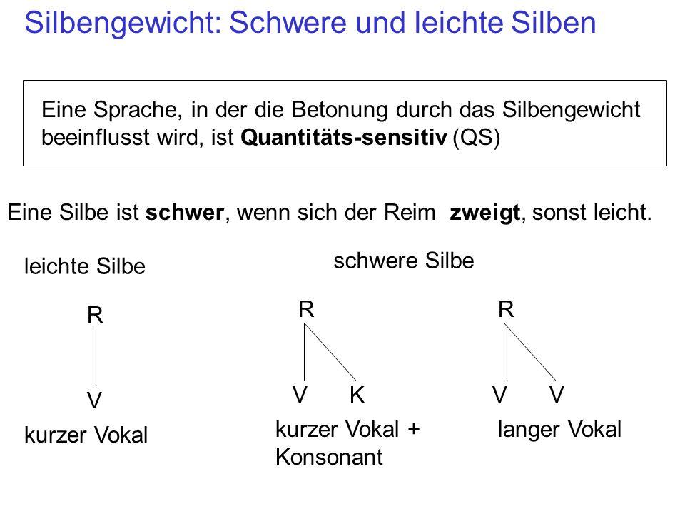Silbengewicht: Schwere und leichte Silben