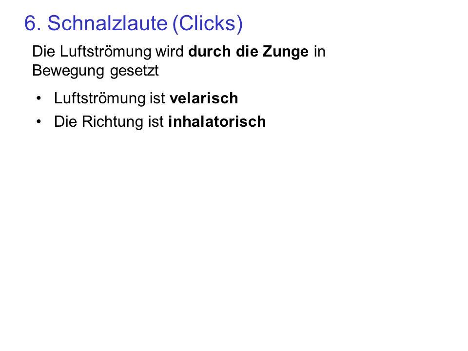 6. Schnalzlaute (Clicks)