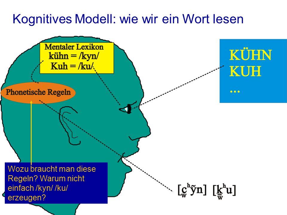 Kognitives Modell: wie wir ein Wort lesen