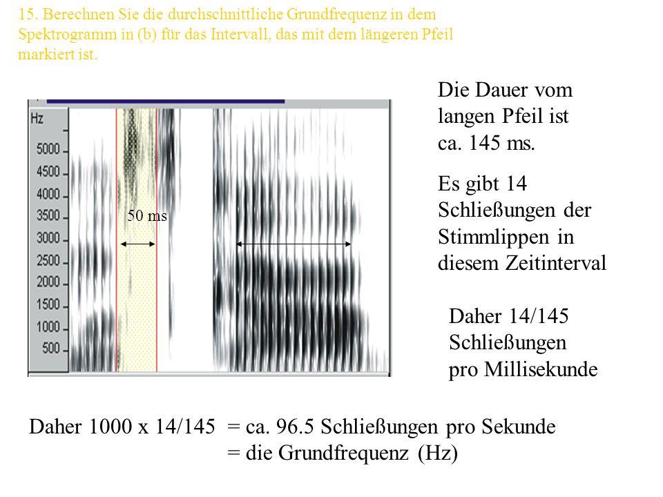 Die Dauer vom langen Pfeil ist ca. 145 ms.
