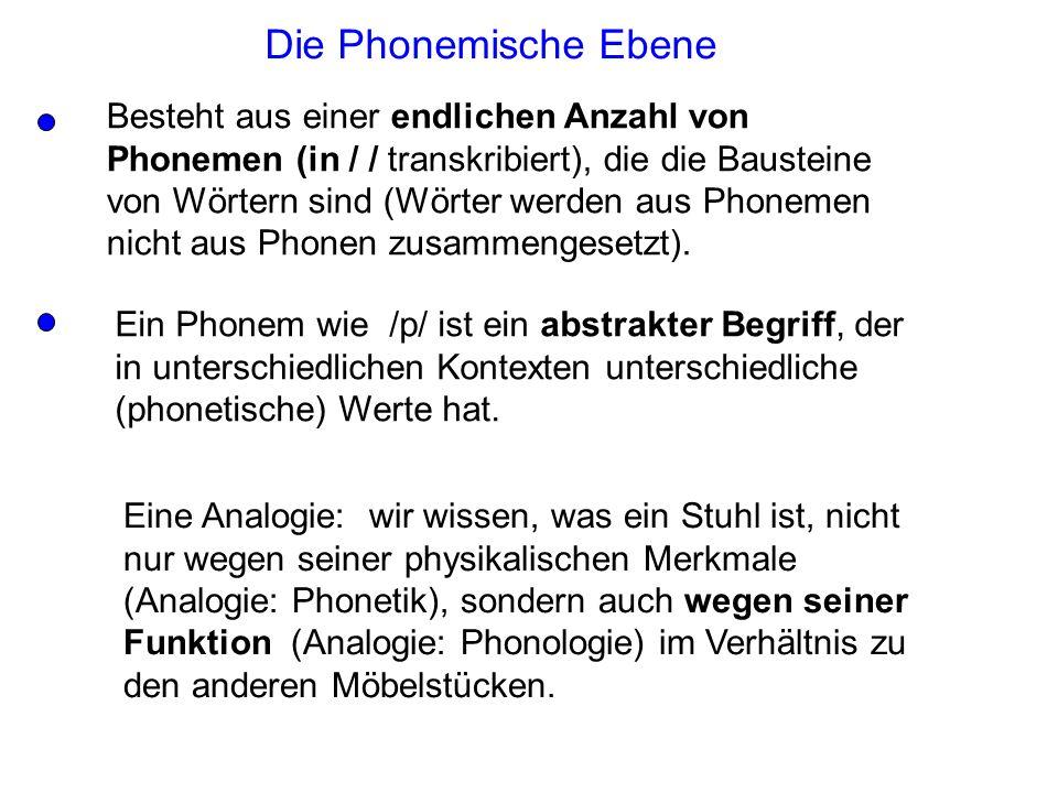 Die Phonemische Ebene