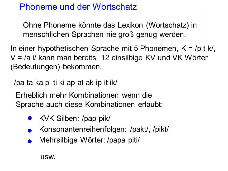 Phoneme und der Wortschatz