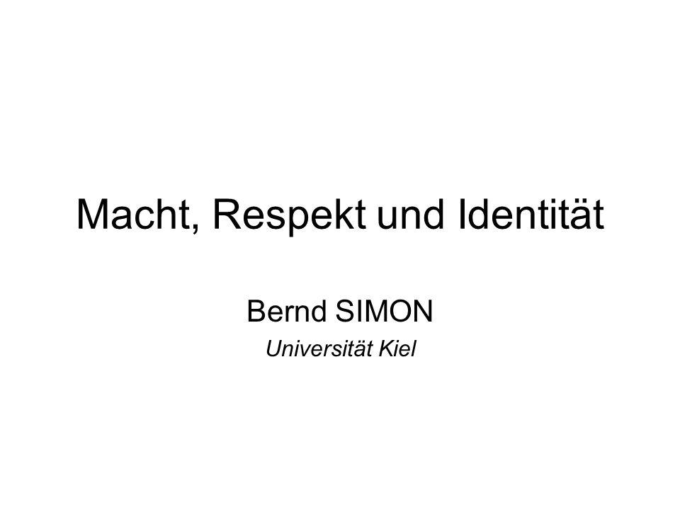 Macht, Respekt und Identität