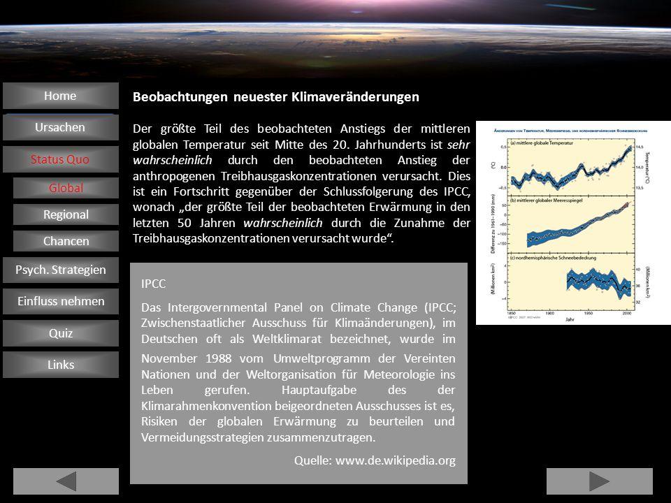 Beobachtungen neuester Klimaveränderungen