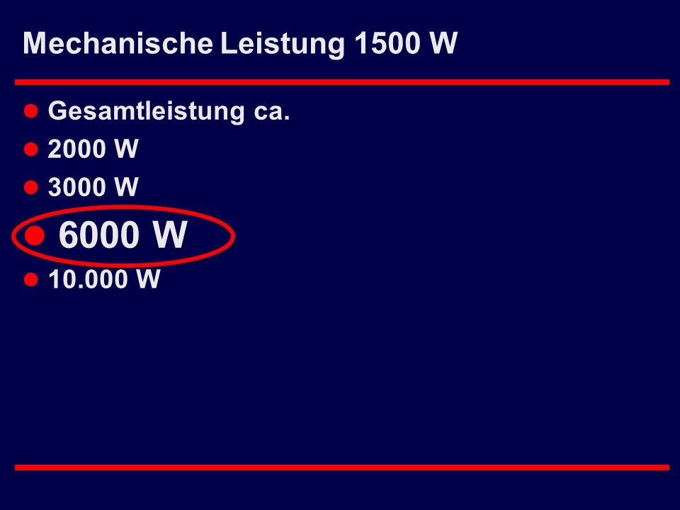 Mechanische Leistung 1500 W