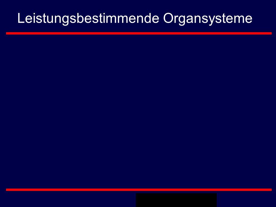Leistungsbestimmende Organsysteme