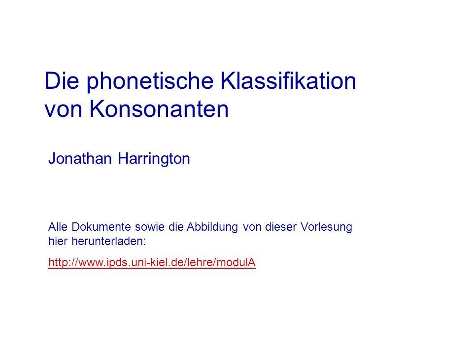 Die phonetische Klassifikation von Konsonanten