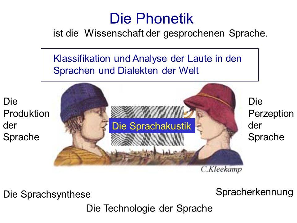 Die Phonetik ist die Wissenschaft der gesprochenen Sprache. Klassifikation und Analyse der Laute in den Sprachen und Dialekten der Welt.