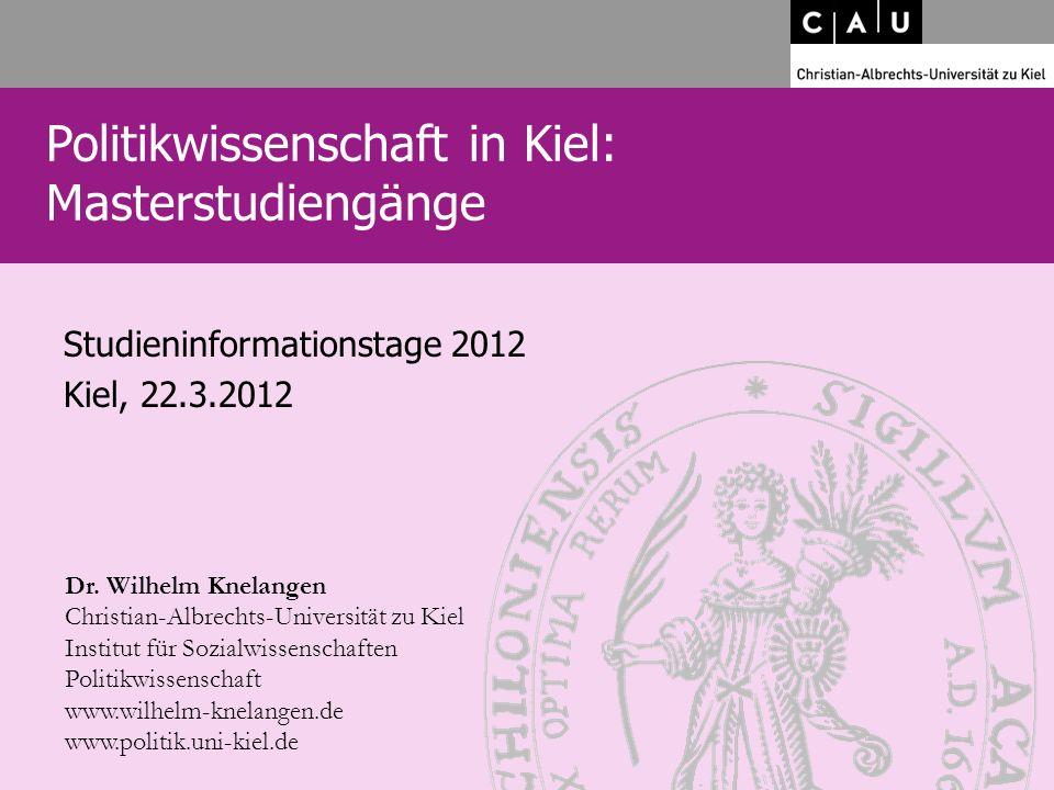 Studieninformationstage 2012 Kiel, 22.3.2012