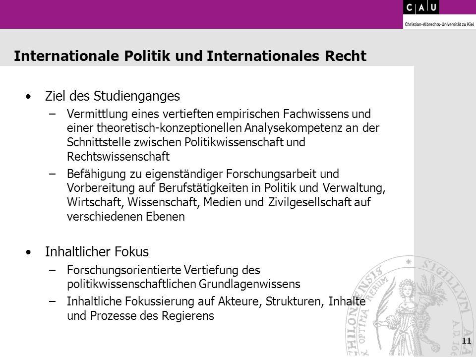 Internationale Politik und Internationales Recht