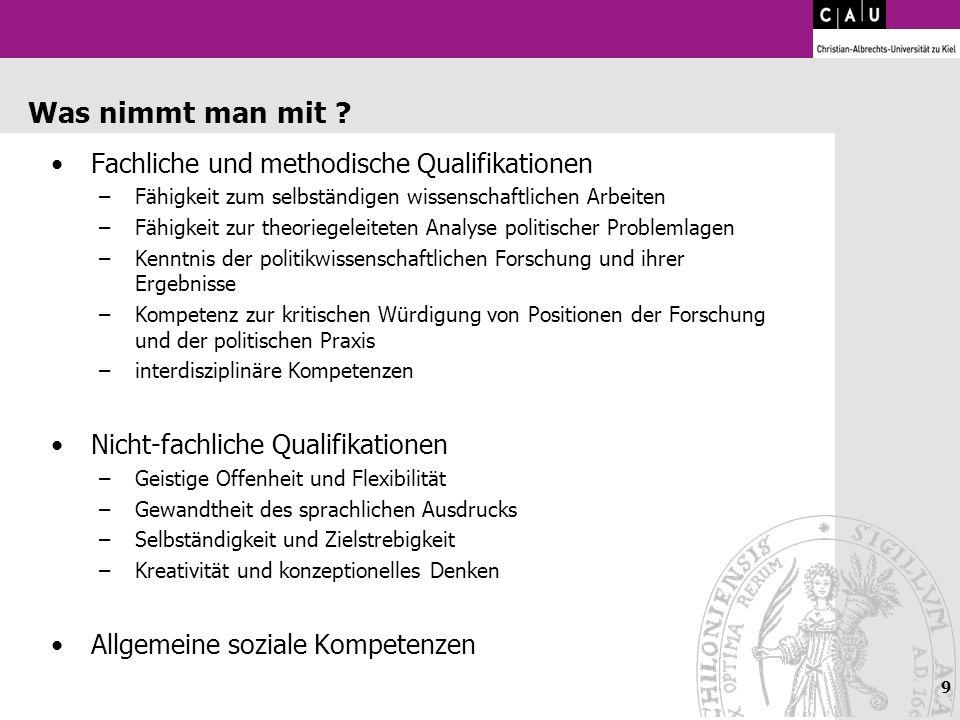 Was nimmt man mit Fachliche und methodische Qualifikationen