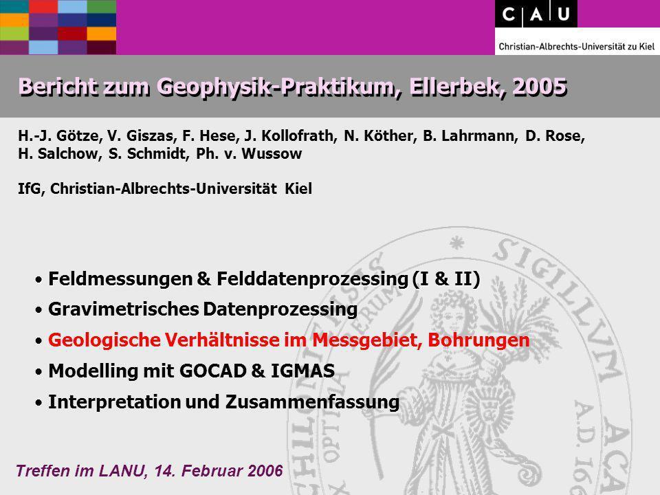 Bericht zum Geophysik-Praktikum, Ellerbek, 2005