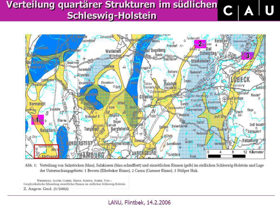 Verteilung quartärer Strukturen im südlichen Schleswig-Holstein