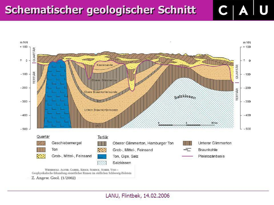 Schematischer geologischer Schnitt