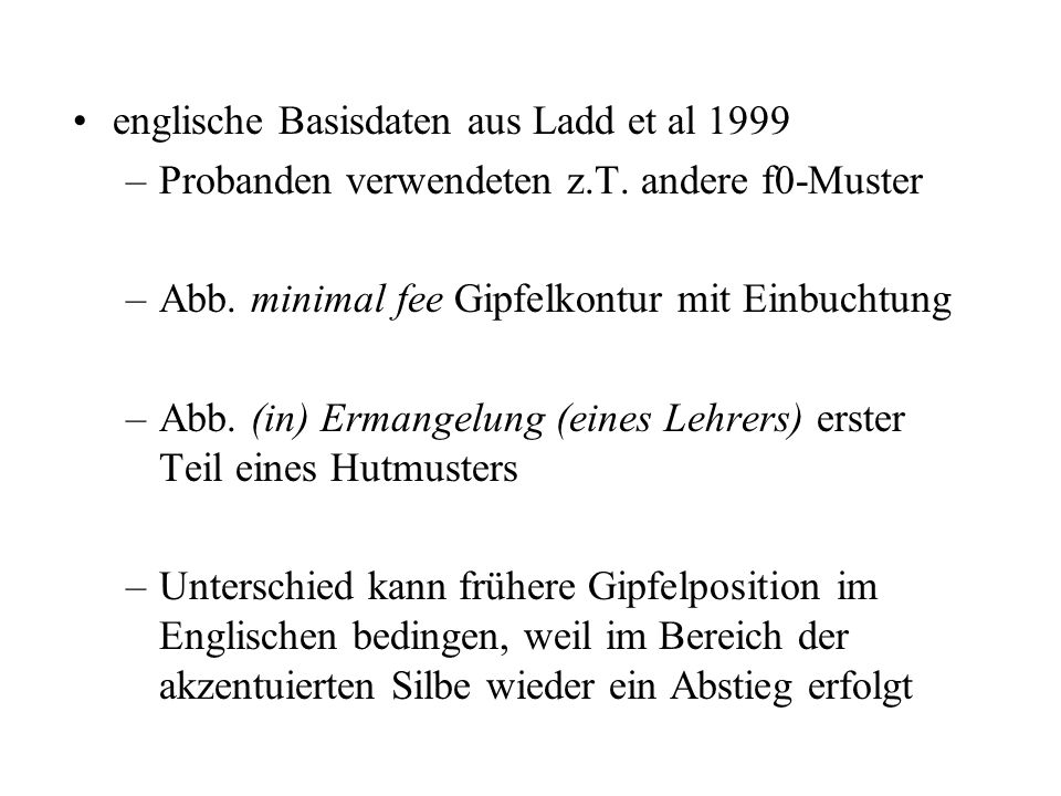 englische Basisdaten aus Ladd et al 1999