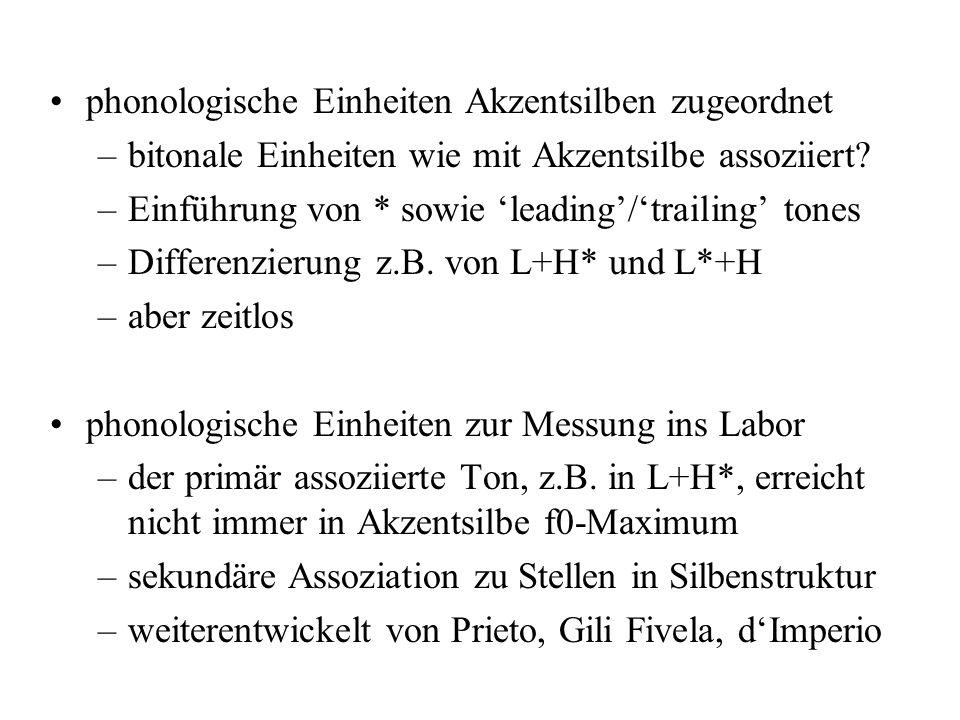 phonologische Einheiten Akzentsilben zugeordnet