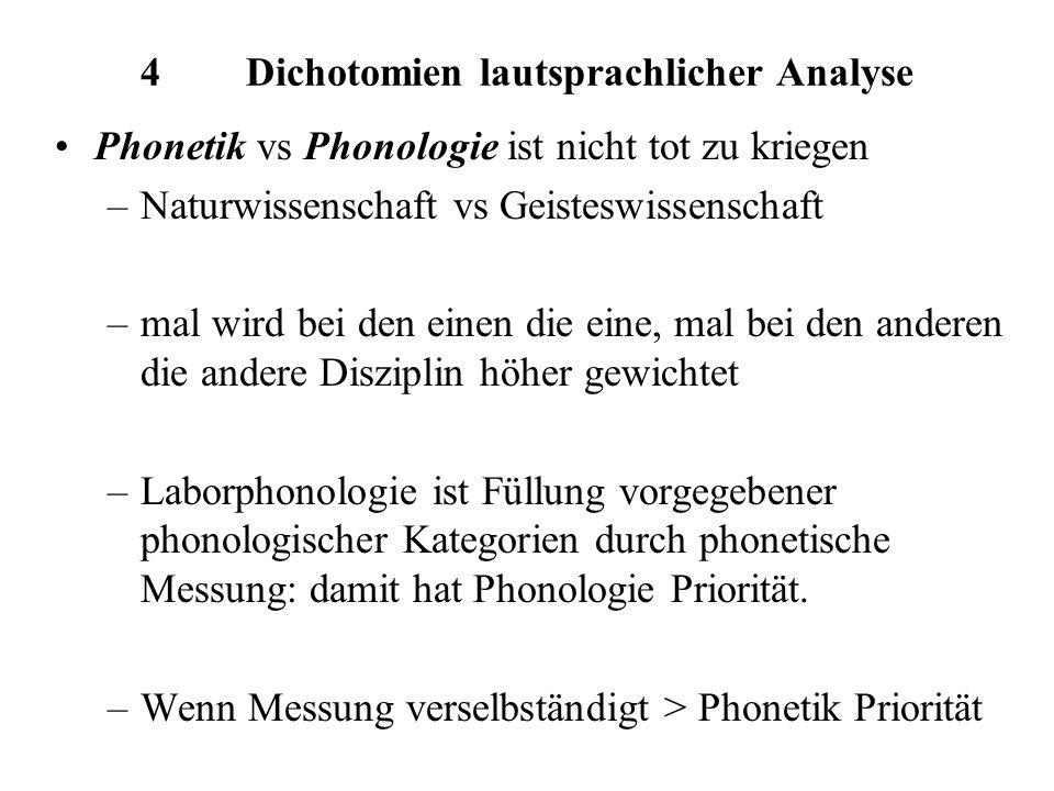 4 Dichotomien lautsprachlicher Analyse