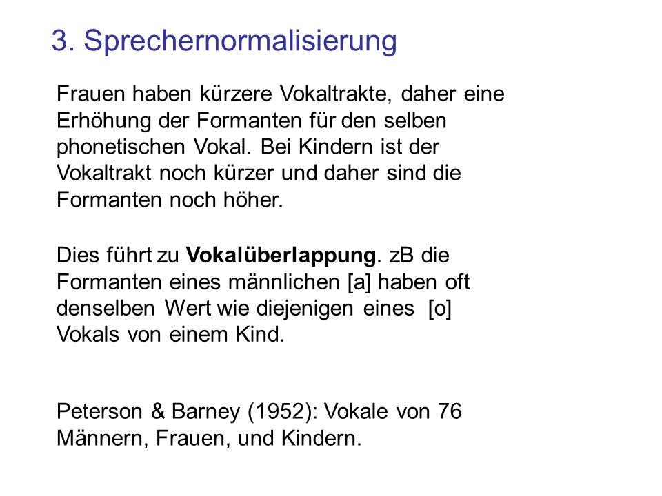 3. Sprechernormalisierung