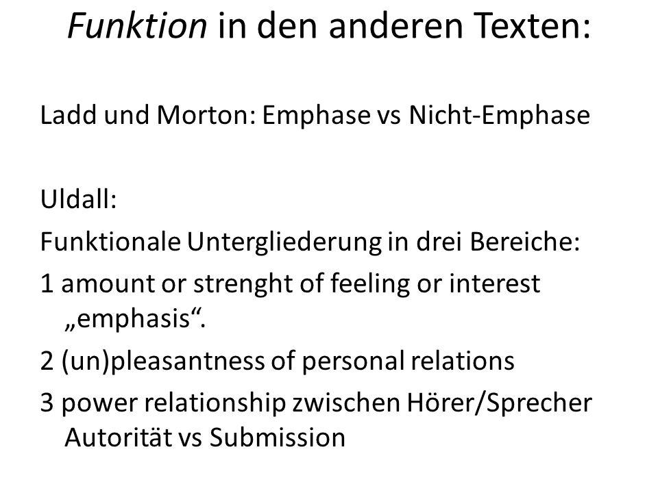 Funktion in den anderen Texten: