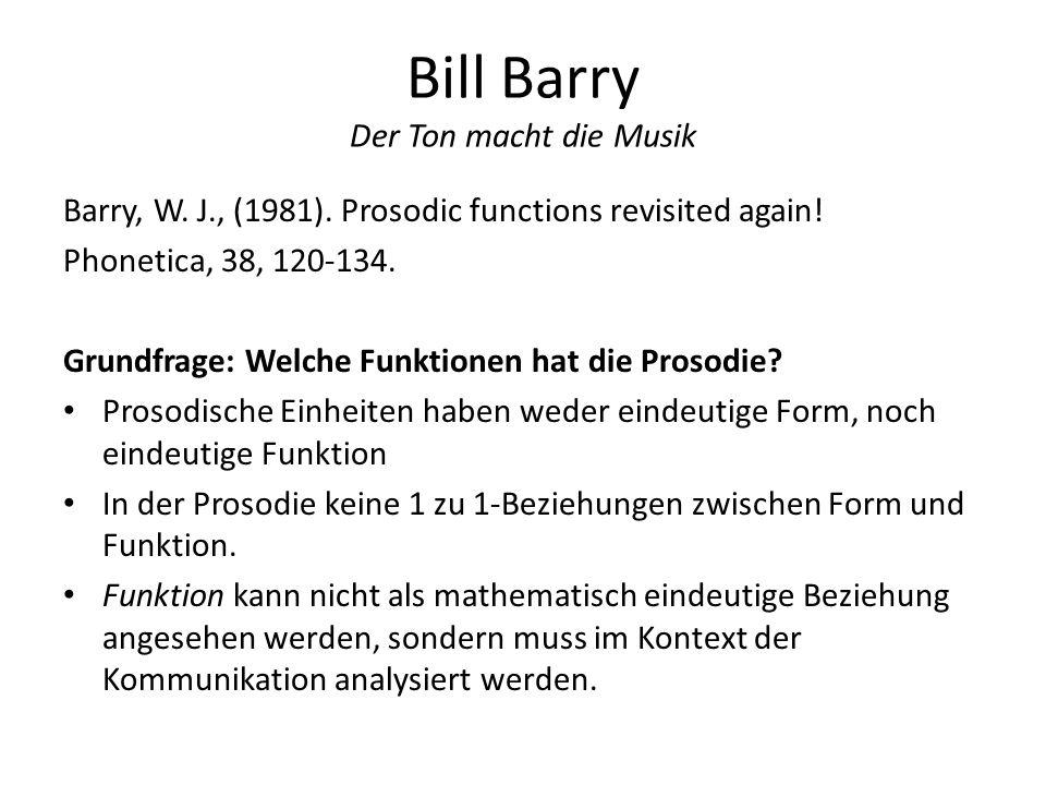 Bill Barry Der Ton macht die Musik