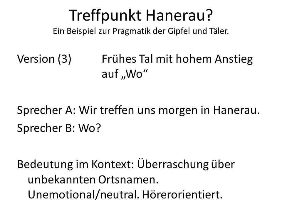 Treffpunkt Hanerau Ein Beispiel zur Pragmatik der Gipfel und Täler.