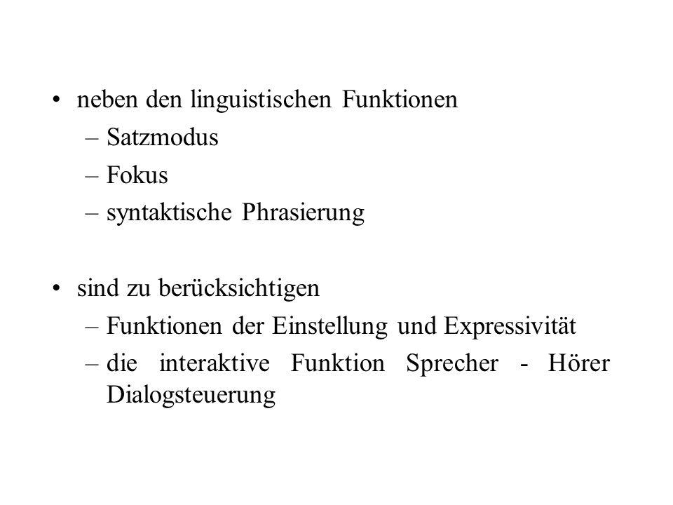 neben den linguistischen Funktionen