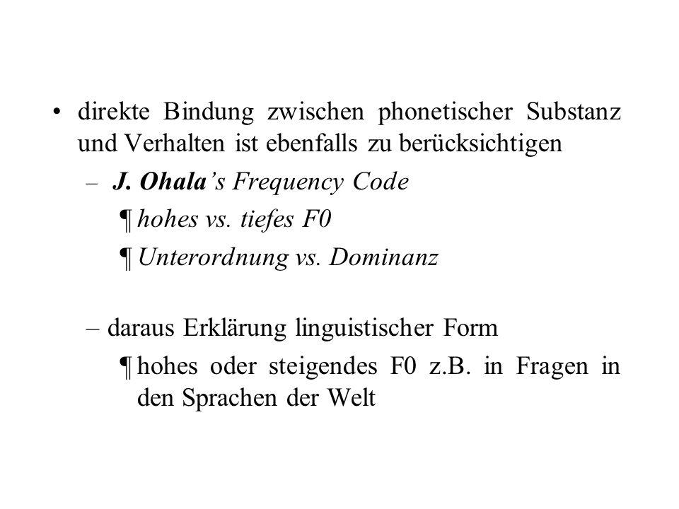 Unterordnung vs. Dominanz daraus Erklärung linguistischer Form