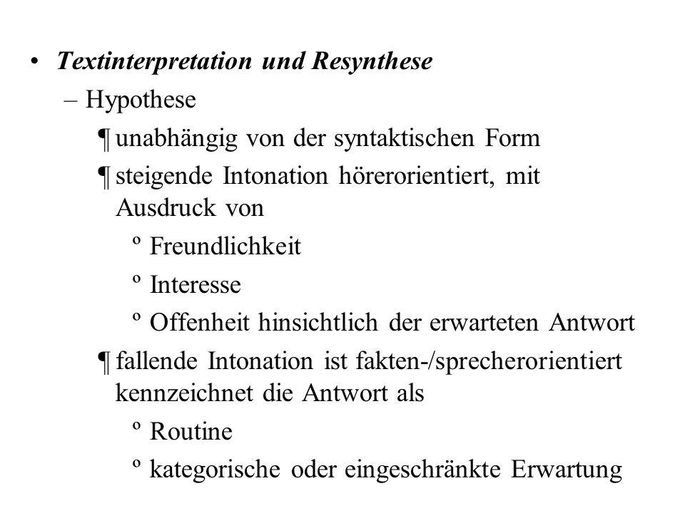 Textinterpretation und Resynthese