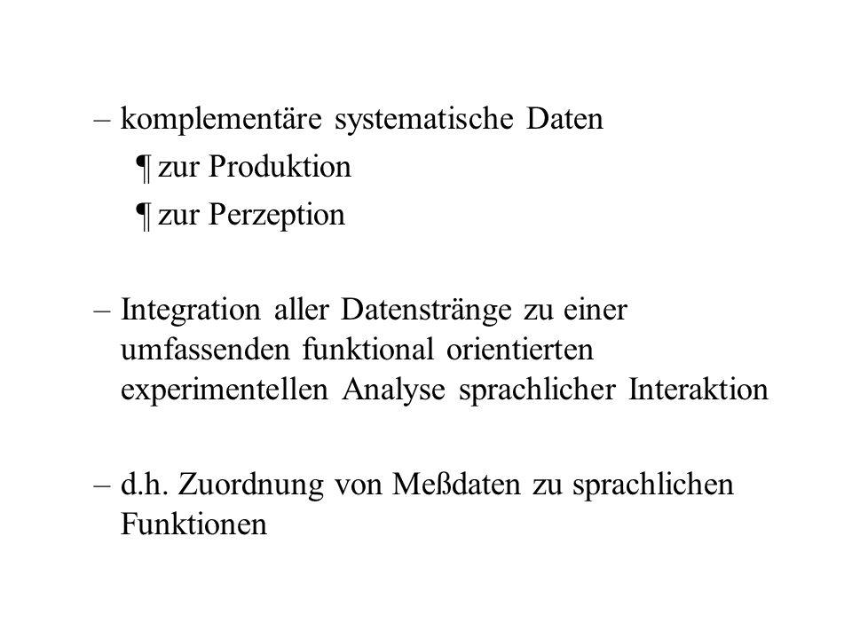 komplementäre systematische Daten