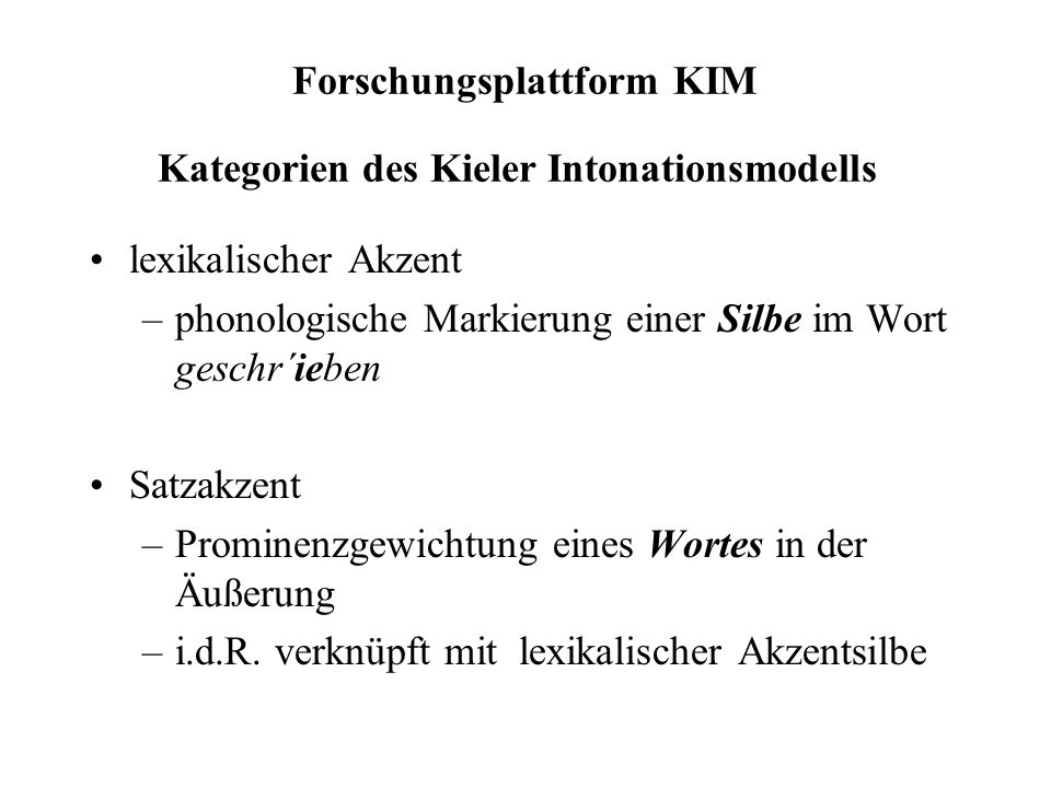 Forschungsplattform KIM