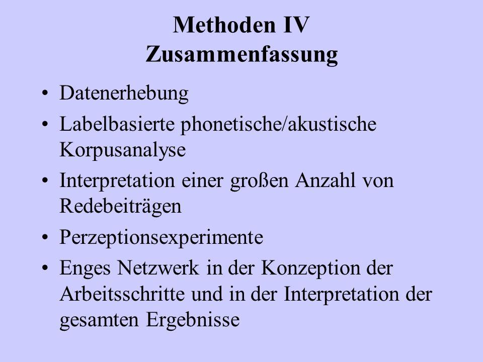 Methoden IV Zusammenfassung