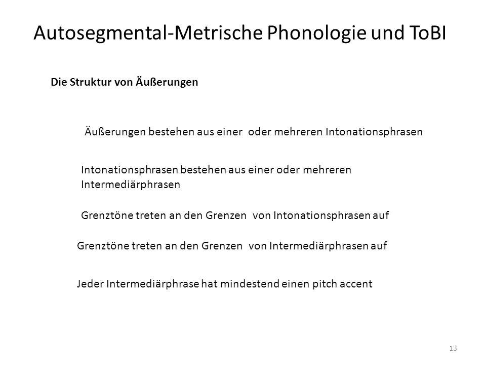 autosegmental analysis He also draws attention to problems in pierrehumbert's version of the autosegmental  metrical theory of intonational phonology  23 analysis of pitch accents in.