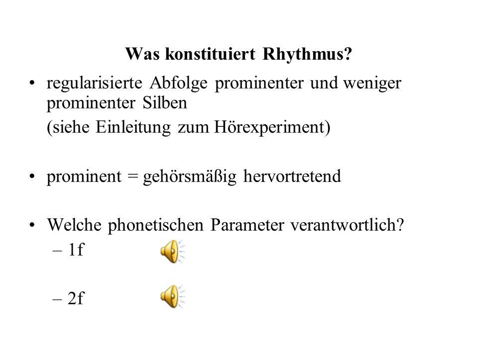 Was konstituiert Rhythmus