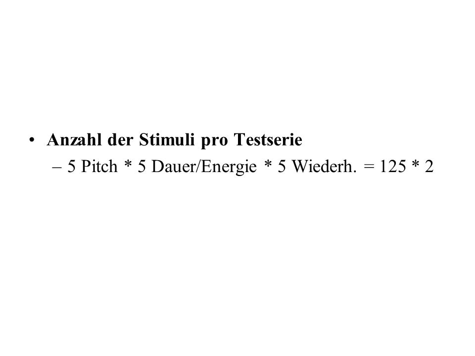 Anzahl der Stimuli pro Testserie