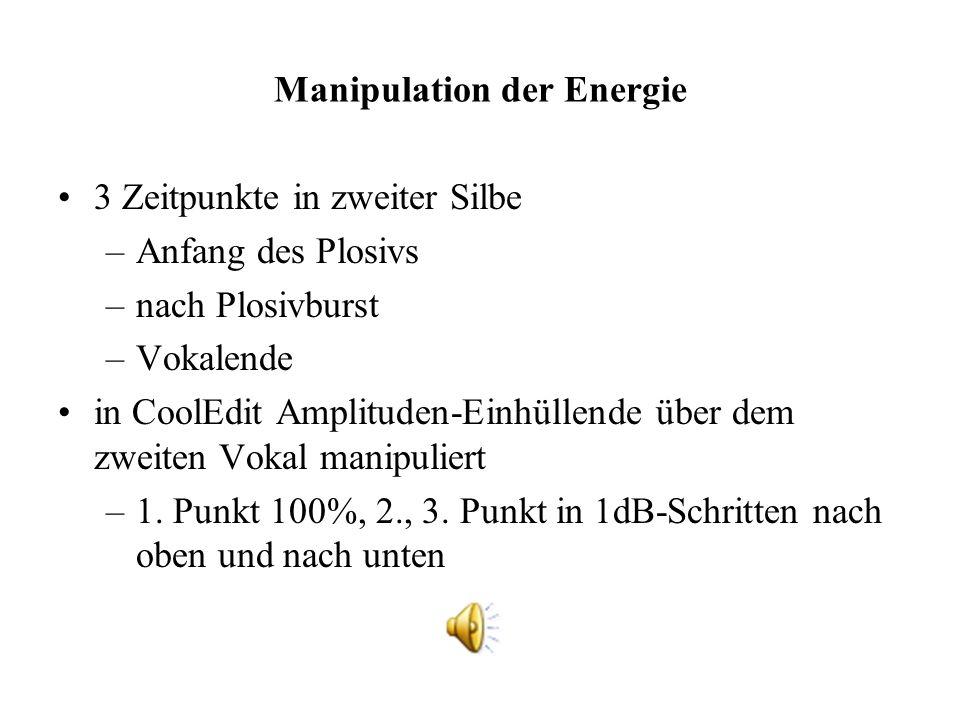 Manipulation der Energie