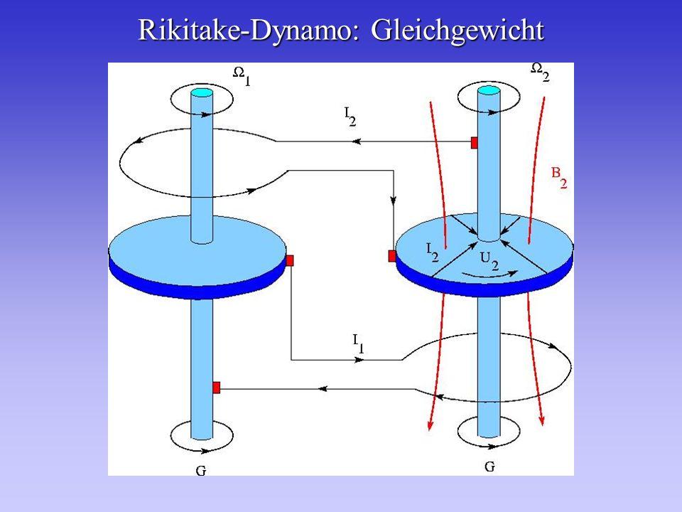 Rikitake-Dynamo: Gleichgewicht