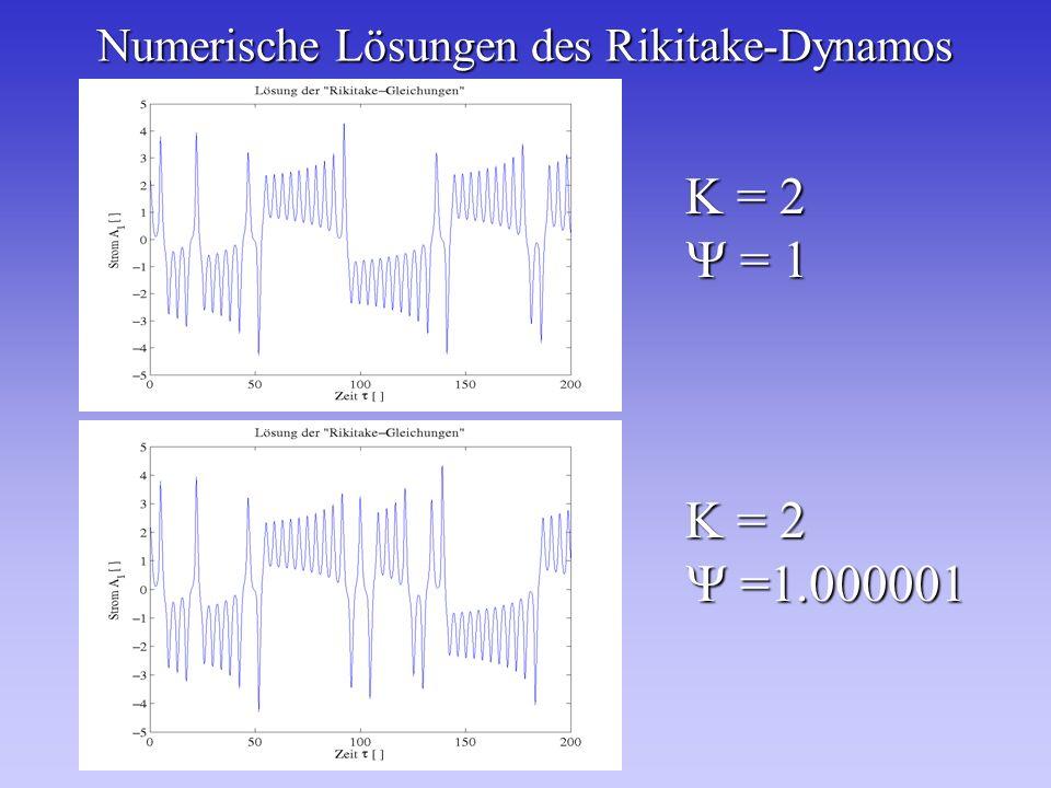 Numerische Lösungen des Rikitake-Dynamos