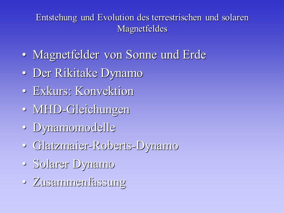 Entstehung und Evolution des terrestrischen und solaren Magnetfeldes