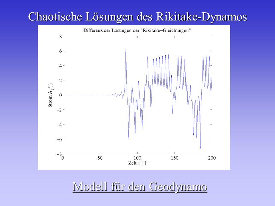 Chaotische Lösungen des Rikitake-Dynamos