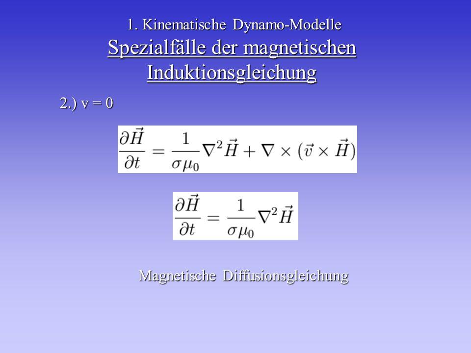 Spezialfälle der magnetischen Induktionsgleichung