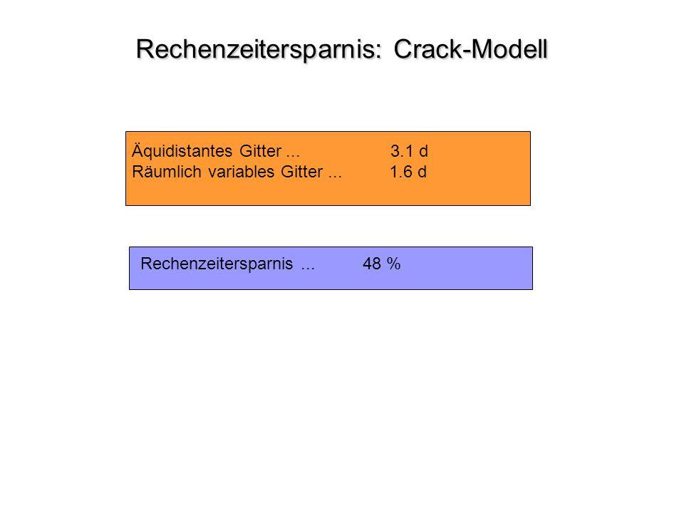 Rechenzeitersparnis: Crack-Modell